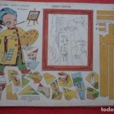 Coleccionismo Recortables: ARTES Y OFICIOS. 'PIMPO PINTOR'. EDIC. LA TIJERA SERIE 10 Nº 174. TAMAÑO 23,3X33,3 CM.. Lote 132035622