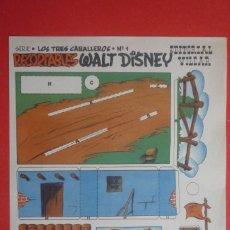 Coleccionismo Recortables: RECORTABLES 'WALT DISNEY'. SERIE ''LOS TRES CABALLEROS Nº 1. EDITORIAL VILCAR TAMAÑO 25X35 CM. . Lote 132752902