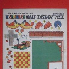 Coleccionismo Recortables: RECORTABLES 'WALT DISNEY'. SERIE ''SALUDOS AMIGOS'' Nº 2. EDITORIAL VILCAR TAMAÑO 25X35 CM. . Lote 132753158