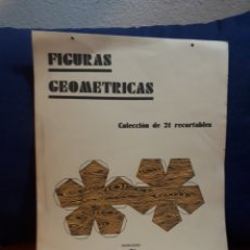 Coleccionismo Recortables: FIGURAS GEOMETRICAS COLECCION 21 RECORTABLES EDITORIAL MIGUEL A. SALVATELLA. Lote 134232082