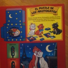 Coleccionismo Recortables: RECORTABLE MAGIC ENGLISH. EL PUZZLE DE LOS ARISTOGATOS. Lote 134649738