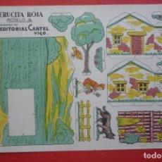 Coleccionismo Recortables: 'CAPERUCITA ROJA' MODELO 'A' CREACIONES DE EDITORIAL CARTEL, DE VIGO. TAMAÑO 21X31,5 CM. Lote 135377646