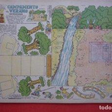 Coleccionismo Recortables: 'CAMPAMENTO DE VERANO'. EDICIONES T.B.O. TAMAÑO 24,3X31,5 CM. Lote 135378062