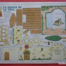 Coleccionismo Recortables: 'LA ERMITA DE LA VEGA'. EDICIONES T.B.O. TAMAÑO 24,3X31,5 CM. Lote 135378626