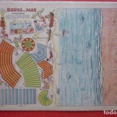 Coleccionismo Recortables: 'BAÑOS DE MAR'. EDICIONES T.B.O. TAMAÑO 24,3X31,5 CM. Lote 135378766