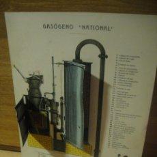 Coleccionismo Recortables: GASOGENO NATIONAL - RECORTABLE CON PIEZAS SUPERPUESTAS. Lote 137278890