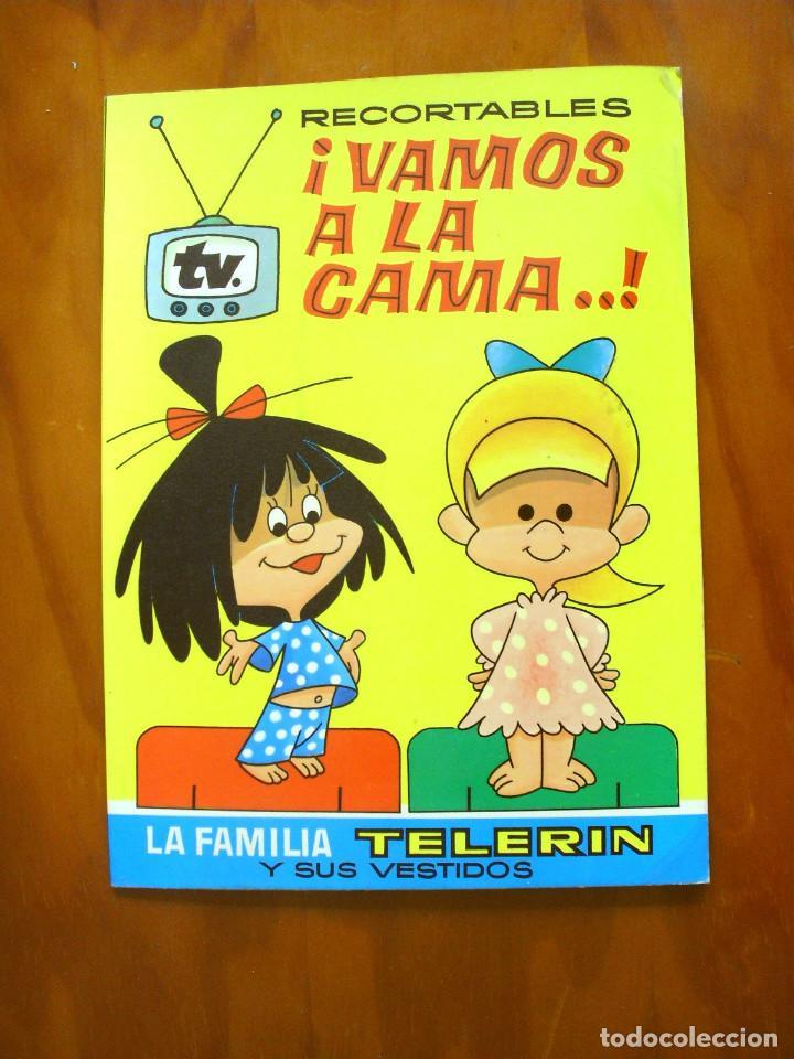 RECORTABLES ¡VAMOS A LA CAMA..! -LA FAMILIA TELERIN Y SUS VESTIDOS -EDITORIAL BRUGUERA 1964 (Sammelleidenschaft Papier - Andere Bastelbögen)