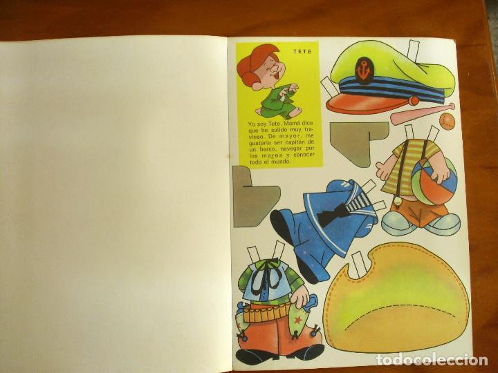 Sammeln von Bastelbögen: RECORTABLES ¡VAMOS A LA CAMA..! -LA FAMILIA TELERIN Y SUS VESTIDOS -EDITORIAL BRUGUERA 1964 - Foto 3 - 137565510