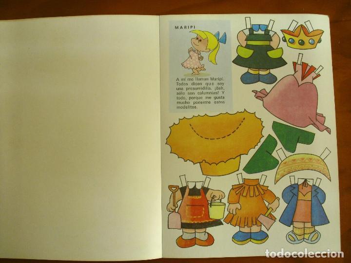 Sammeln von Bastelbögen: RECORTABLES ¡VAMOS A LA CAMA..! -LA FAMILIA TELERIN Y SUS VESTIDOS -EDITORIAL BRUGUERA 1964 - Foto 4 - 137565510