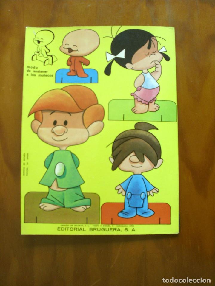 Sammeln von Bastelbögen: RECORTABLES ¡VAMOS A LA CAMA..! -LA FAMILIA TELERIN Y SUS VESTIDOS -EDITORIAL BRUGUERA 1964 - Foto 9 - 137565510