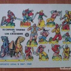 Coleccionismo Recortables: RECORTABLE BRUGUERA : EL CAPITÁN TRUENO EN LAS CRUZADAS. Lote 160741121