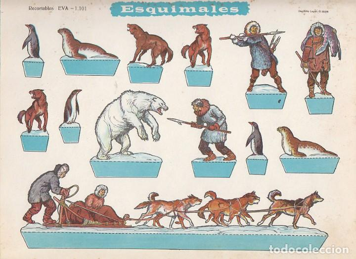 ESQUIMALES. RECORTABLES EVA. MEDIDAS 22,5 X 30 CMS. AÑO 1965. CARTULINA (Coleccionismo - Otros recortables)