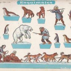 Coleccionismo Recortables: ESQUIMALES. RECORTABLES EVA. MEDIDAS 22,5 X 30 CMS. AÑO 1965. CARTULINA. Lote 139562806