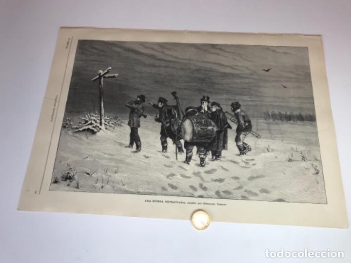 LOTE DE 52 GRABADOS DE ILUSTRACIÓN ARTISTICA DE 1882 1883. FABRES, BERTA WEGMANN, VELÁZQUEZ, FORTUNY (Coleccionismo - Otros recortables)
