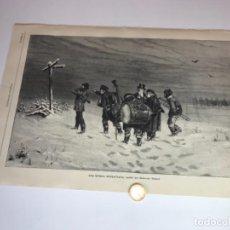 Coleccionismo Recortables: LOTE DE 52 GRABADOS DE ILUSTRACIÓN ARTISTICA DE 1882 1883. FABRES, BERTA WEGMANN, VELÁZQUEZ, FORTUNY. Lote 139846882