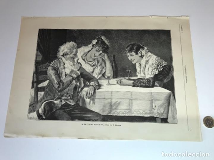Coleccionismo Recortables: Lote de 52 grabados de Ilustración Artistica de 1882 1883. Fabres, Berta Wegmann, Velázquez, Fortuny - Foto 2 - 139846882