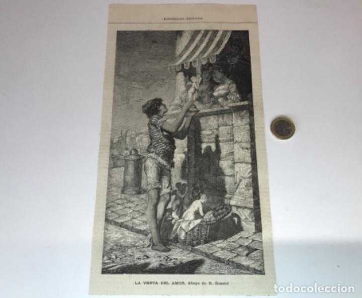 Coleccionismo Recortables: Lote de 52 grabados de Ilustración Artistica de 1882 1883. Fabres, Berta Wegmann, Velázquez, Fortuny - Foto 4 - 139846882