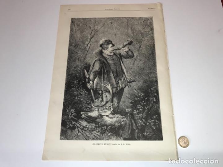 Coleccionismo Recortables: Lote de 52 grabados de Ilustración Artistica de 1882 1883. Fabres, Berta Wegmann, Velázquez, Fortuny - Foto 5 - 139846882