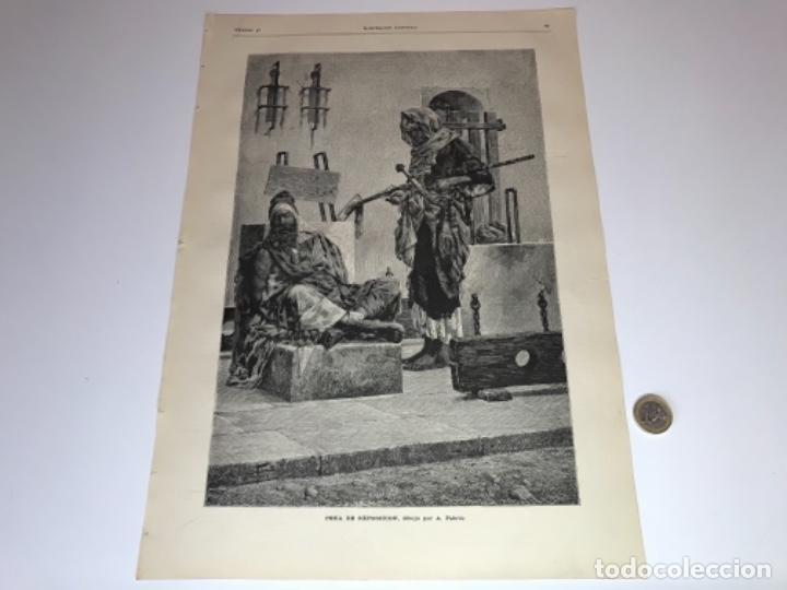 Coleccionismo Recortables: Lote de 52 grabados de Ilustración Artistica de 1882 1883. Fabres, Berta Wegmann, Velázquez, Fortuny - Foto 6 - 139846882
