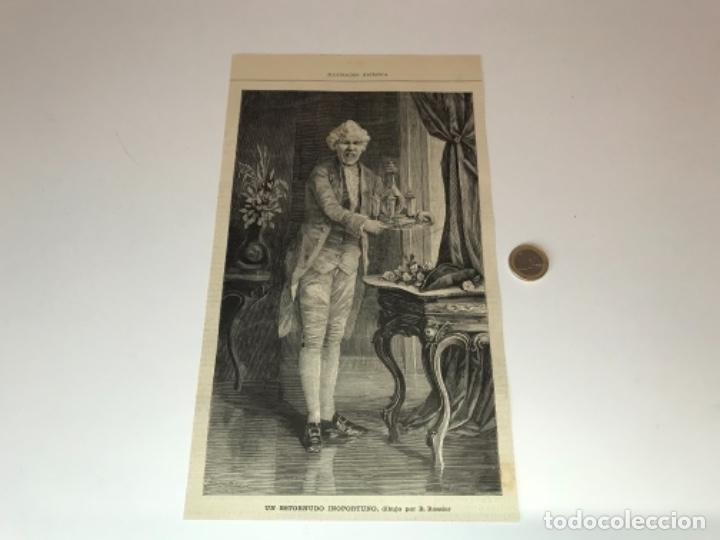 Coleccionismo Recortables: Lote de 52 grabados de Ilustración Artistica de 1882 1883. Fabres, Berta Wegmann, Velázquez, Fortuny - Foto 7 - 139846882