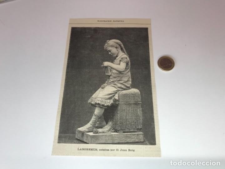 Coleccionismo Recortables: Lote de 52 grabados de Ilustración Artistica de 1882 1883. Fabres, Berta Wegmann, Velázquez, Fortuny - Foto 8 - 139846882
