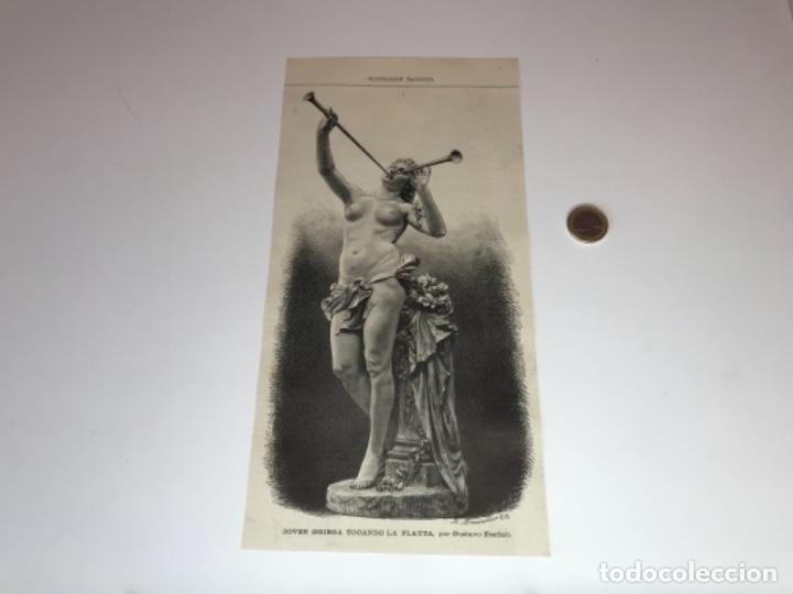 Coleccionismo Recortables: Lote de 52 grabados de Ilustración Artistica de 1882 1883. Fabres, Berta Wegmann, Velázquez, Fortuny - Foto 11 - 139846882