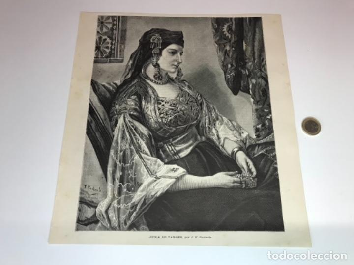 Coleccionismo Recortables: Lote de 52 grabados de Ilustración Artistica de 1882 1883. Fabres, Berta Wegmann, Velázquez, Fortuny - Foto 14 - 139846882