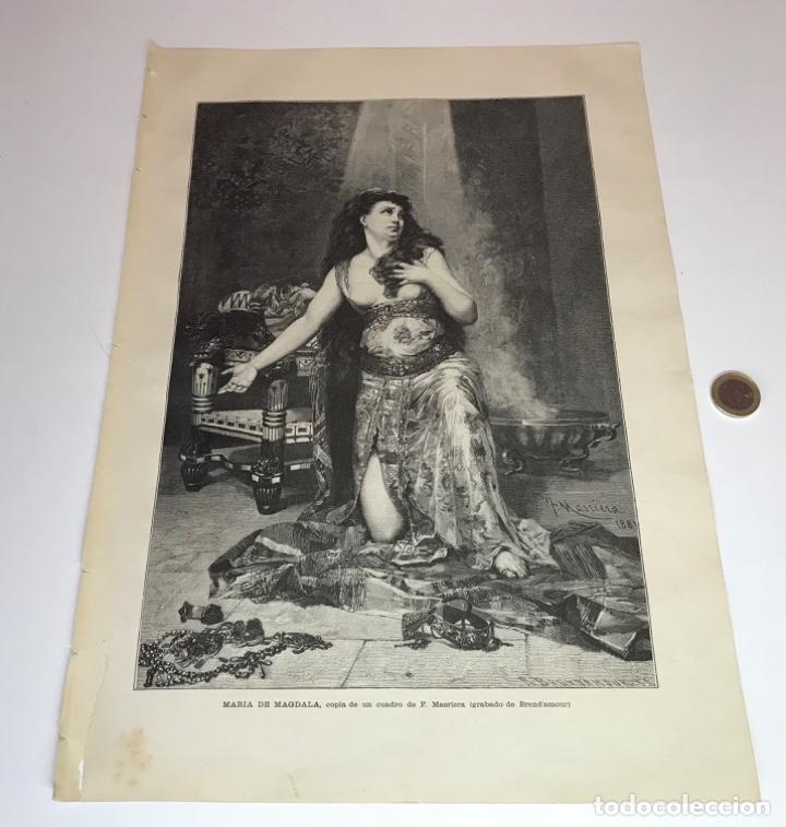 Coleccionismo Recortables: Lote de 52 grabados de Ilustración Artistica de 1882 1883. Fabres, Berta Wegmann, Velázquez, Fortuny - Foto 21 - 139846882
