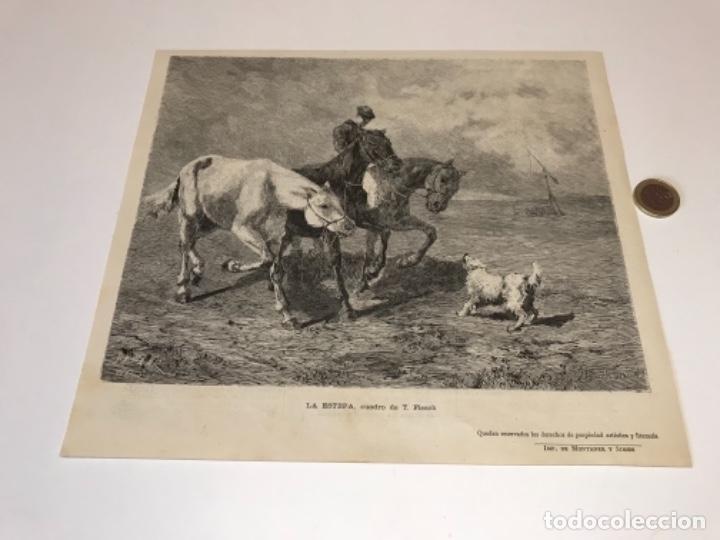 Coleccionismo Recortables: Lote de 52 grabados de Ilustración Artistica de 1882 1883. Fabres, Berta Wegmann, Velázquez, Fortuny - Foto 23 - 139846882