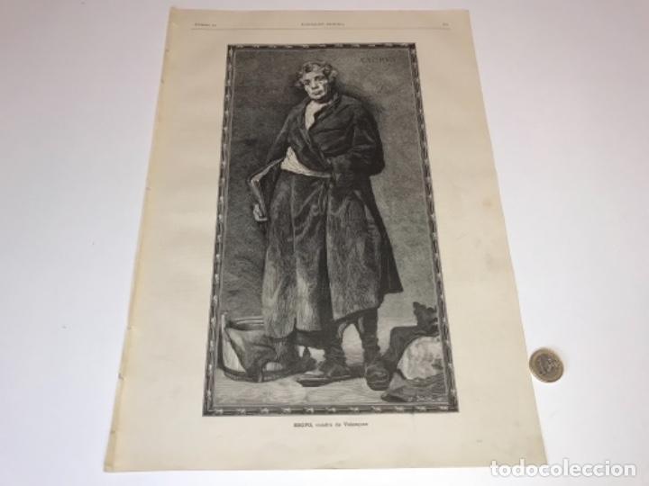 Coleccionismo Recortables: Lote de 52 grabados de Ilustración Artistica de 1882 1883. Fabres, Berta Wegmann, Velázquez, Fortuny - Foto 26 - 139846882