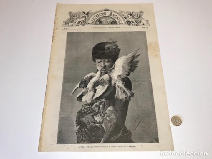 Coleccionismo Recortables: Lote de 52 grabados de Ilustración Artistica de 1882 1883. Fabres, Berta Wegmann, Velázquez, Fortuny - Foto 27 - 139846882