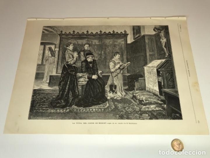 Coleccionismo Recortables: Lote de 52 grabados de Ilustración Artistica de 1882 1883. Fabres, Berta Wegmann, Velázquez, Fortuny - Foto 28 - 139846882