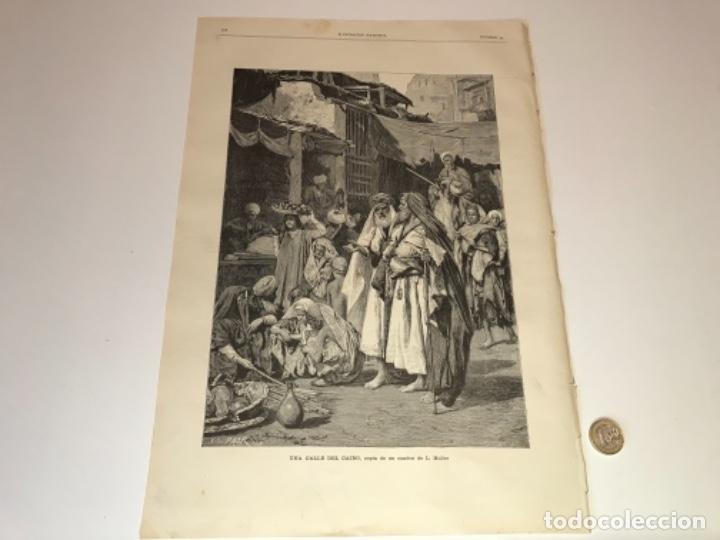 Coleccionismo Recortables: Lote de 52 grabados de Ilustración Artistica de 1882 1883. Fabres, Berta Wegmann, Velázquez, Fortuny - Foto 29 - 139846882