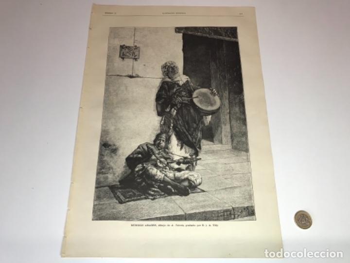 Coleccionismo Recortables: Lote de 52 grabados de Ilustración Artistica de 1882 1883. Fabres, Berta Wegmann, Velázquez, Fortuny - Foto 31 - 139846882