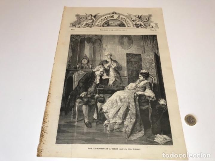 Coleccionismo Recortables: Lote de 52 grabados de Ilustración Artistica de 1882 1883. Fabres, Berta Wegmann, Velázquez, Fortuny - Foto 32 - 139846882