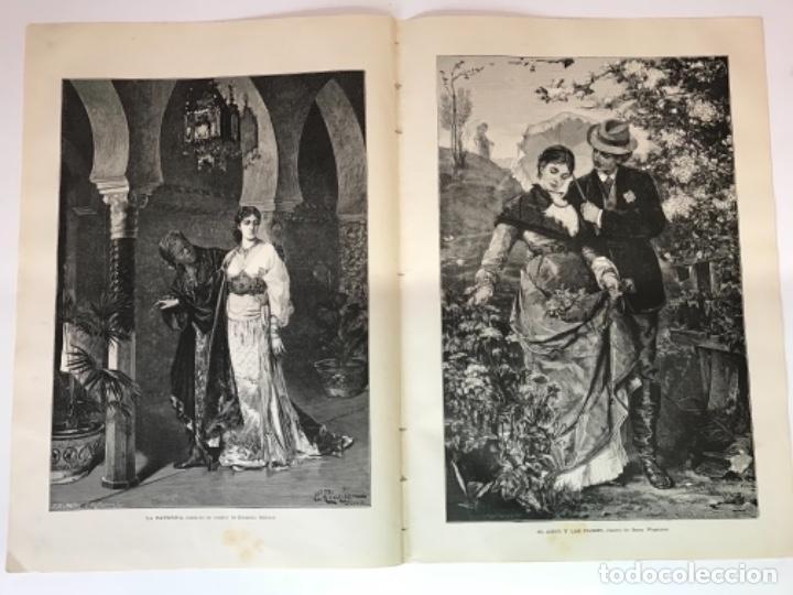 Coleccionismo Recortables: Lote de 52 grabados de Ilustración Artistica de 1882 1883. Fabres, Berta Wegmann, Velázquez, Fortuny - Foto 34 - 139846882