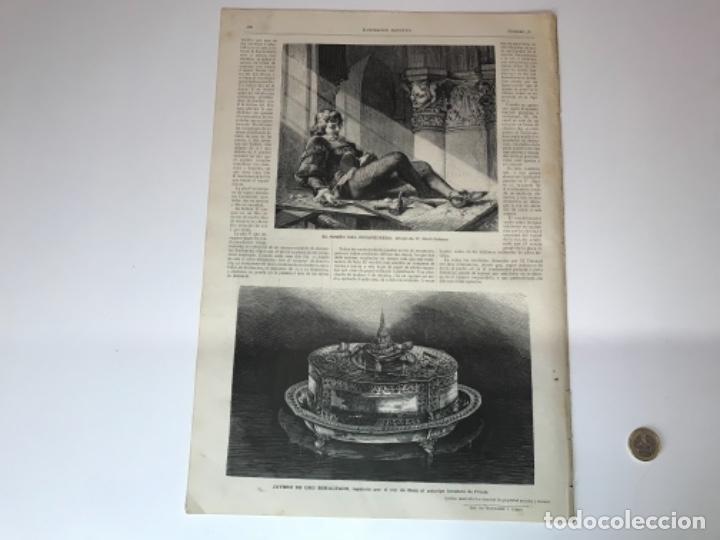 Coleccionismo Recortables: Lote de 52 grabados de Ilustración Artistica de 1882 1883. Fabres, Berta Wegmann, Velázquez, Fortuny - Foto 35 - 139846882