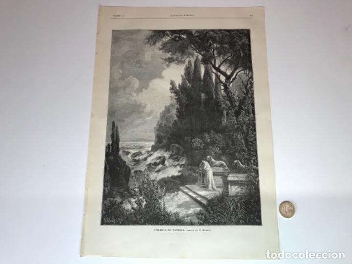 Coleccionismo Recortables: Lote de 52 grabados de Ilustración Artistica de 1882 1883. Fabres, Berta Wegmann, Velázquez, Fortuny - Foto 36 - 139846882