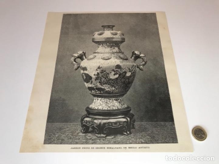 Coleccionismo Recortables: Lote de 52 grabados de Ilustración Artistica de 1882 1883. Fabres, Berta Wegmann, Velázquez, Fortuny - Foto 37 - 139846882