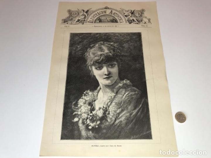 Coleccionismo Recortables: Lote de 52 grabados de Ilustración Artistica de 1882 1883. Fabres, Berta Wegmann, Velázquez, Fortuny - Foto 39 - 139846882
