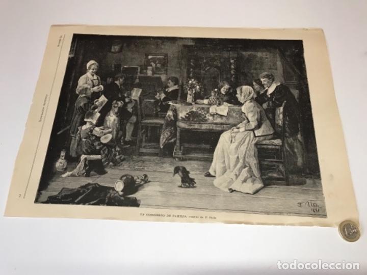 Coleccionismo Recortables: Lote de 52 grabados de Ilustración Artistica de 1882 1883. Fabres, Berta Wegmann, Velázquez, Fortuny - Foto 41 - 139846882
