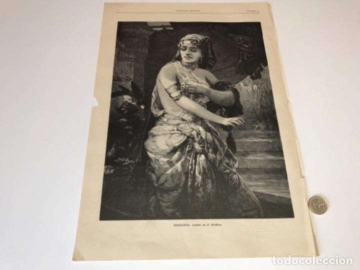 Coleccionismo Recortables: Lote de 52 grabados de Ilustración Artistica de 1882 1883. Fabres, Berta Wegmann, Velázquez, Fortuny - Foto 43 - 139846882