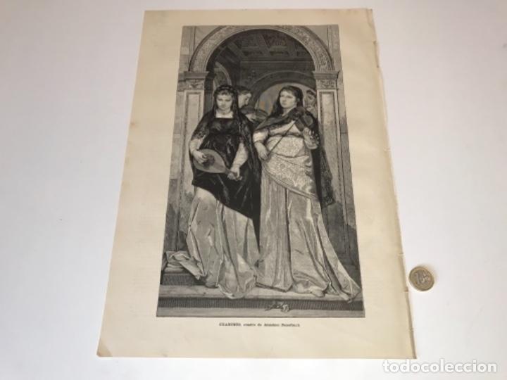 Coleccionismo Recortables: Lote de 52 grabados de Ilustración Artistica de 1882 1883. Fabres, Berta Wegmann, Velázquez, Fortuny - Foto 45 - 139846882