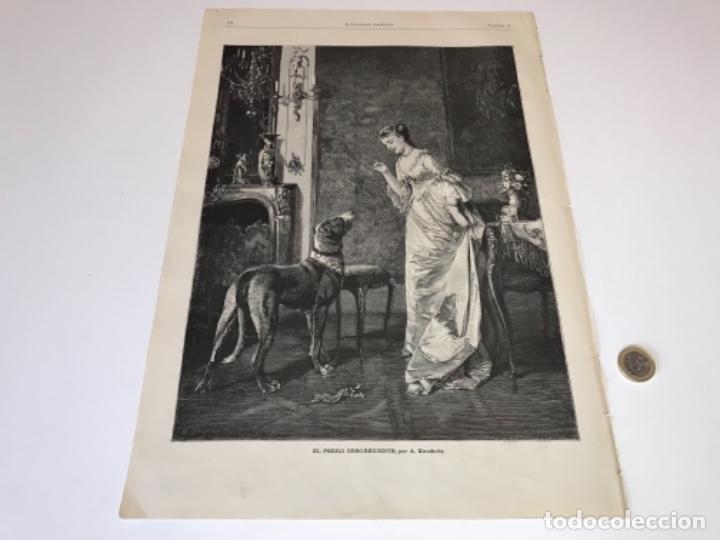 Coleccionismo Recortables: Lote de 52 grabados de Ilustración Artistica de 1882 1883. Fabres, Berta Wegmann, Velázquez, Fortuny - Foto 47 - 139846882