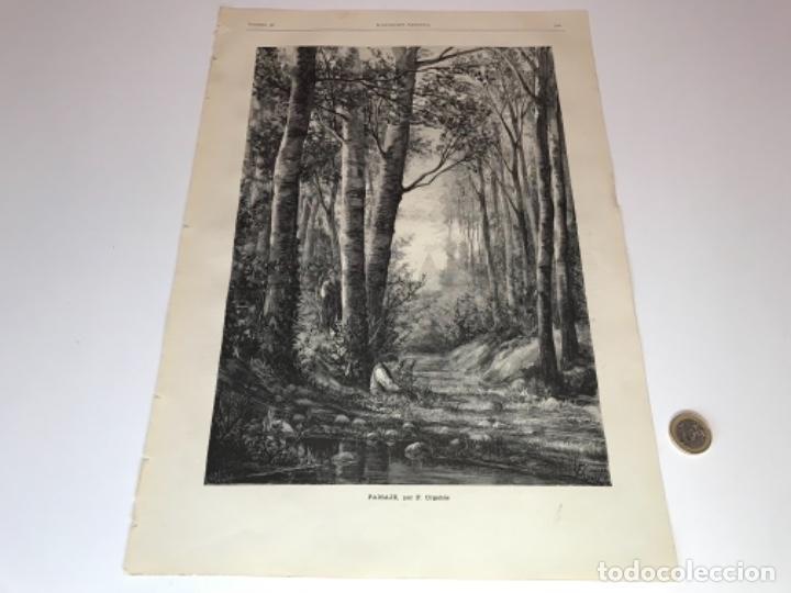 Coleccionismo Recortables: Lote de 52 grabados de Ilustración Artistica de 1882 1883. Fabres, Berta Wegmann, Velázquez, Fortuny - Foto 48 - 139846882