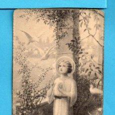 Coleccionismo Recortables: RECORDATORIO DE PRIMERA COMUNIÓN EN MADRES CARMELITAS DESCALZAS DE REUS AÑO 1940. Lote 140502302