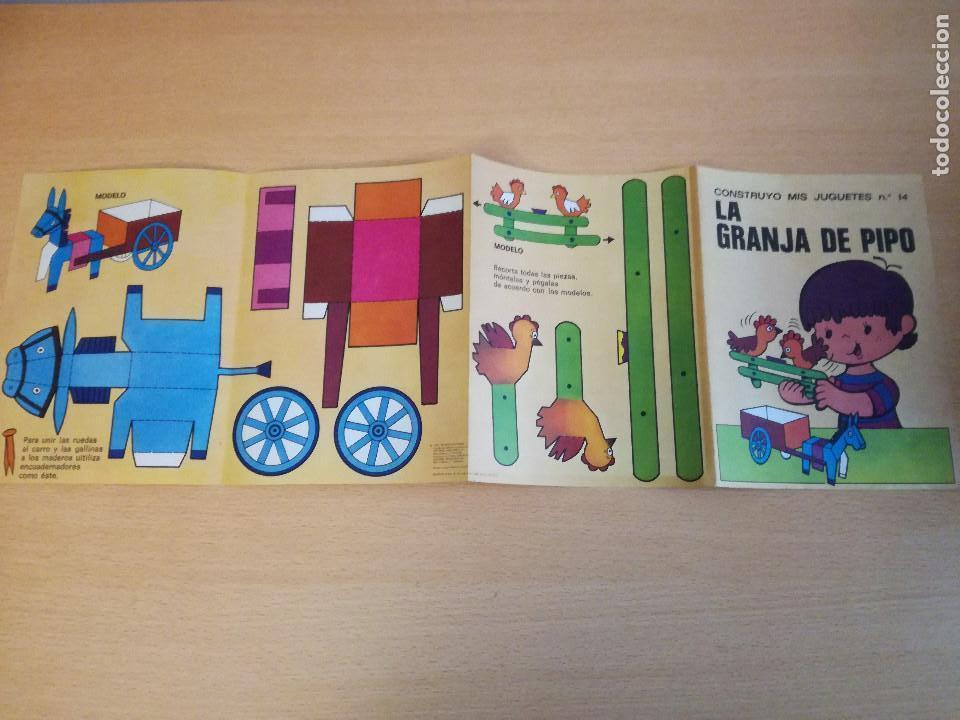 Coleccionismo Recortables: Construyo mis juguetes números 1 y 14, Bruguera, 1974, nuevos. Ver fotos. - Foto 3 - 140903458