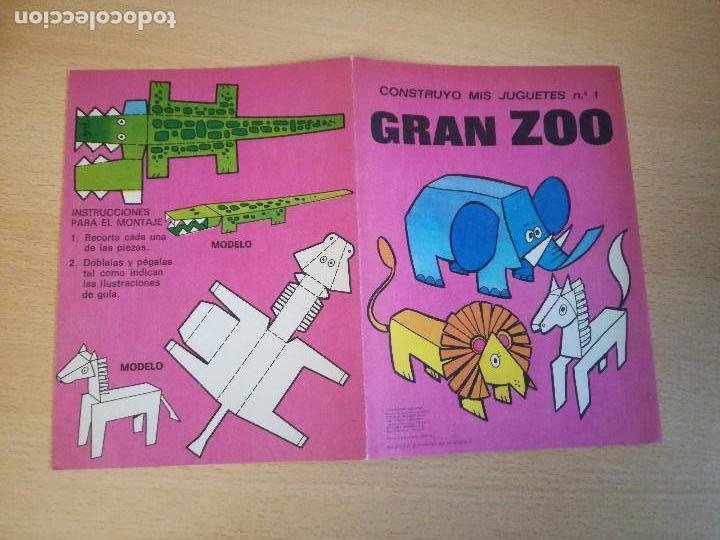 Coleccionismo Recortables: Construyo mis juguetes números 1 y 14, Bruguera, 1974, nuevos. Ver fotos. - Foto 9 - 140903458