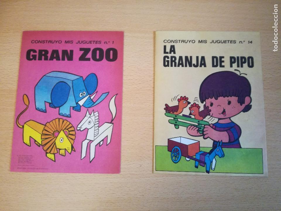 CONSTRUYO MIS JUGUETES NÚMEROS 1 Y 14, BRUGUERA, 1974, NUEVOS. VER FOTOS. (Coleccionismo - Otros recortables)
