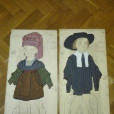 Coleccionismo Recortables: DISEÑO ORIGINAL TRAJE NAVARRO. ROMEO Y JULIETA BEBE PARA VESTIR. ED. MUNTAÑOLA CA1920. Lote 142585030